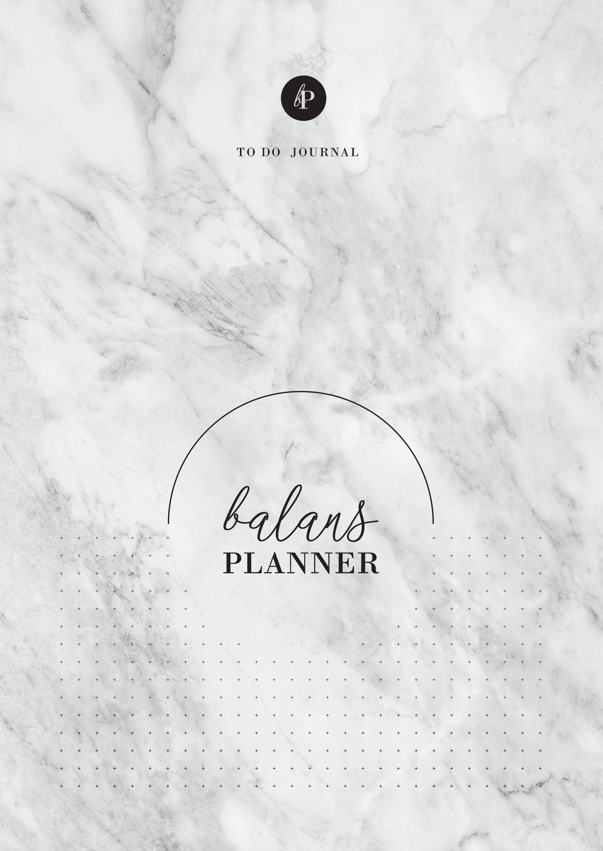 balans planner modern marble